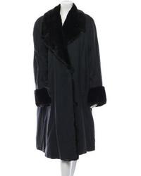 Fendi Fur Trimmed Coat