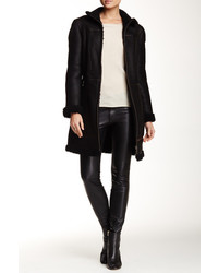 Andrew Marc Genuine Lamb Shearling Leather Coat