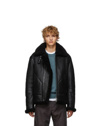 Acne Studios Acne S Black Shearling Ian Jacket