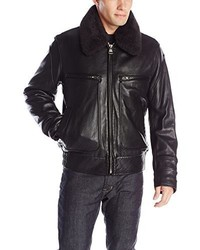 Andrew Marc Marc New York By Carmine Rugged Lamb Aviator Bomber With Removable Sherpa Collar