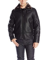 Andrew Marc Marc New York By Kane Faux Shearling Aviator