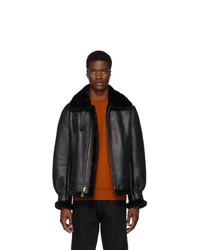 Schott Black B 3 Shearling Jacket