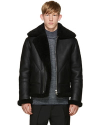 Acne Studios Black Ian Shearling Jacket