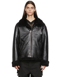 Vetements Black Inside Out Shearling Jacket