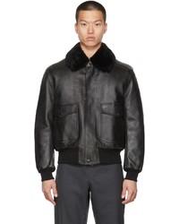 Burberry Black Leather Ketton Jacket
