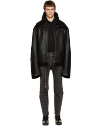 Vetements Black Shearling Coat