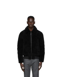 Yves Salomon Army Black Shearling Jacket