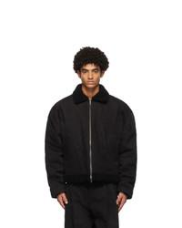 Haider Ackermann Black Shearling Jacket