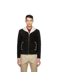 Saint Laurent Black Shearling Short Jacket
