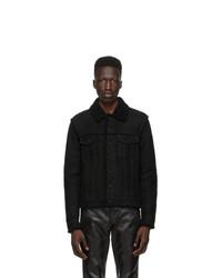 Saint Laurent Black Shearling Short Jacket