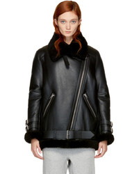 Black shearling velocit jacket medium 5258546