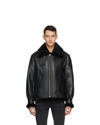 Schott Black Sheepskin Fur B 3 Jacket