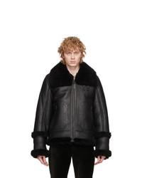 Mackage Black Sheepskin Jacket