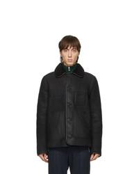 Ps By Paul Smith Black Sheepskin Jacket