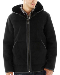 jcpenney Excelled Leather Excelled Faux Shearling Coat With Hood