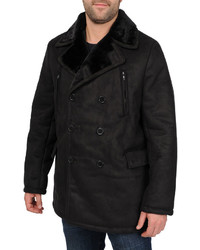 jcpenney Excelled Leather Excelled Faux Shearling Pea Coat Big Tall