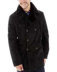 jcpenney Excelled Leather Excelled Faux Shearling Pea Coat