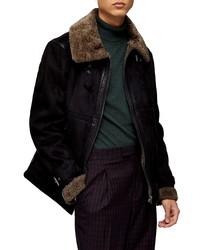 Topman Faux Aviator Jacket