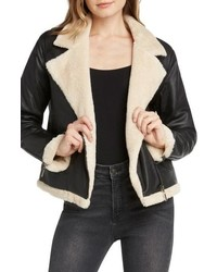 Willow & Clay Faux Fur Lined Moto Jacket