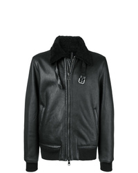 Low Brand Front Zip Aviator Jacket