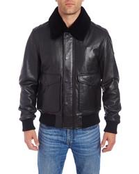 Vince Camuto Genuine Leather Bomber Jacket