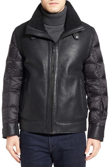 Tumi Genuine Shearling Nylon Quilted Flight Jacket | Where to buy ... : quilted flight jacket - Adamdwight.com