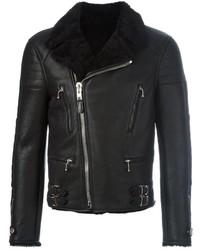 Givenchy Shearling Lined Biker Jacket