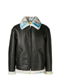 Balenciaga Graffiti Shearling Jacket