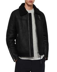 AllSaints Gunstor Genuine Shearling Jacket