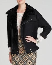 Free People Jacket Faux Fur Collar