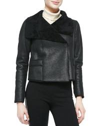 Elie Tahari Jacqueline Cropped Shearling Fur Jacket