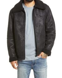 Topman Josh Aviator Faux Leather Jacket
