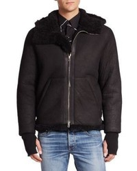 rag & bone Knox Shearling Lined Leather Flight Jacket