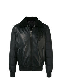 Philipp Plein Leather Padded Jacket