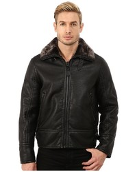 Andrew Marc Marc New York By Kane Faux Shearling Aviator Jacket