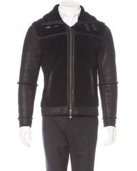 Michael Kors Michl Kors Zip Front Shearling Jacket