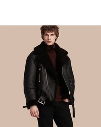Burberry Oversize Shearling Flight Jacket