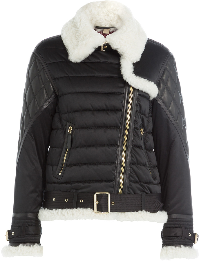 Burberry Quilted Jacket With Faux Shearling Collar Where To Buy
