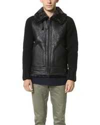 Wings + Horns Shearling Aviator Jacket