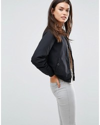 Missguided Shearling Lined Bomber Jacket