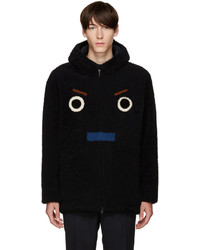 Fendi Ssense Black Shearling Coat
