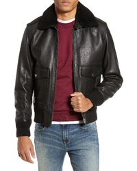 The Kooples Teddy Leather Jacket With Removable Genuine Lamb