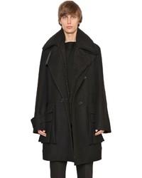 Juun.J Wool Cashmere Coat W Faux Shearling