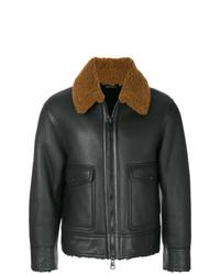 AMI Alexandre Mattiussi Zipped Shearling Jacket