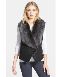 Black Shearling Vest