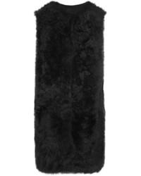 Reversible shearling gilet black medium 5261119