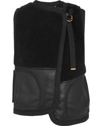 Chloé Reversible Shearling Vest Black