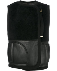Shearling panelled gilet medium 4346406