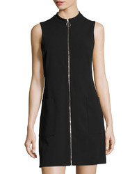 1 STATE 1state Sleeveless Zip Front Sheath Dress Black