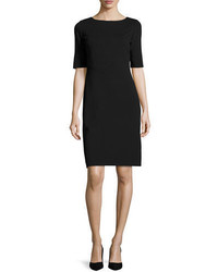 Lafayette 148 New York Asymmetric Seamed Punto Milano Sheath Dress